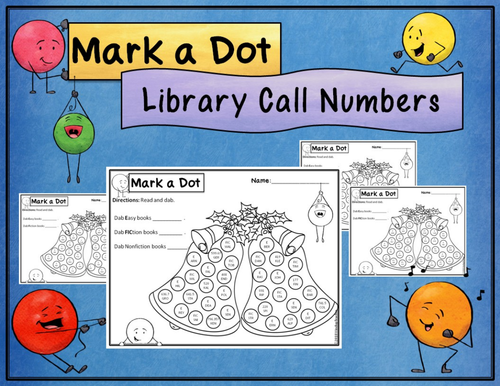 Library Call Number  Dot Dauber Activity