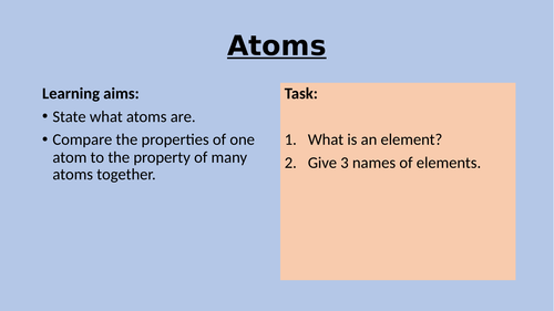 KS3 Atoms