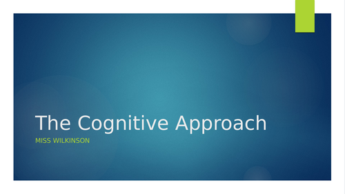 The Cognitive Approach - First Lesson (AQA A-Level Psychology)