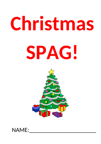 Christmas themed SPAG activity (SATs style questions).