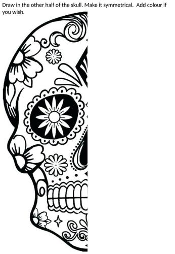 Art cover work skull day of dead