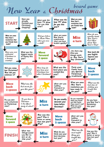 New Year & Christmas board game