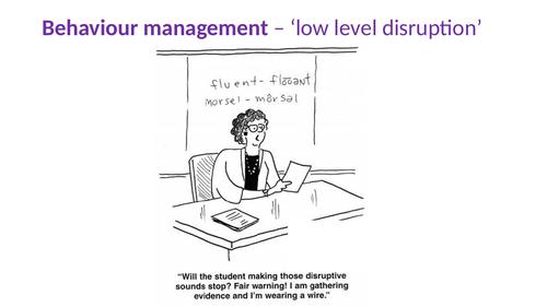 Low Level Disruption PPT