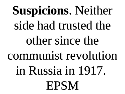 L2 - How did the Cold War develop? 1943-56 Causes Cold War