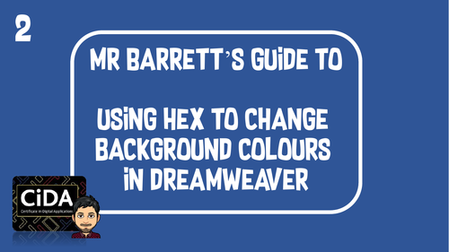 Using Hex colour in Web Pages