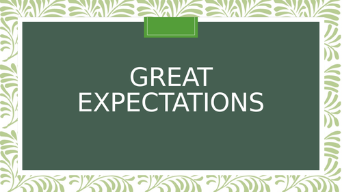 Great Expectations SOW IGCSE English Lit