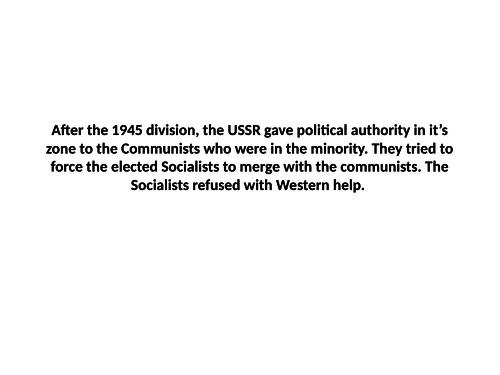 L9 - How did the Cold War develop? 1943-56 Berlin Blockade