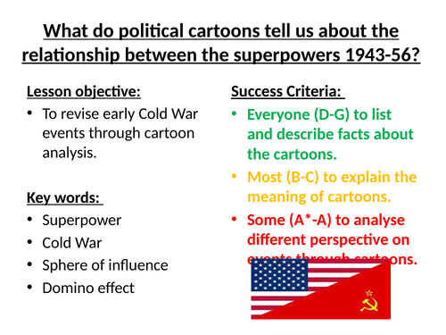 L15 - How did the Cold War develop? 1943-56 Cartoon Analysis