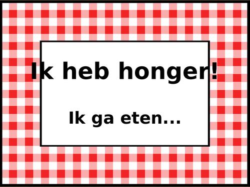Voedsel (Food in Dutch) Ik heb honger Activity