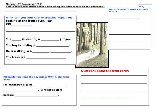 Into the Forest Prediction worksheet