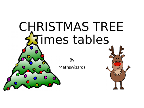 Christmas Tree Times Tables