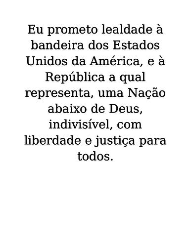 Pledge of Allegiance in Portuguese Poster