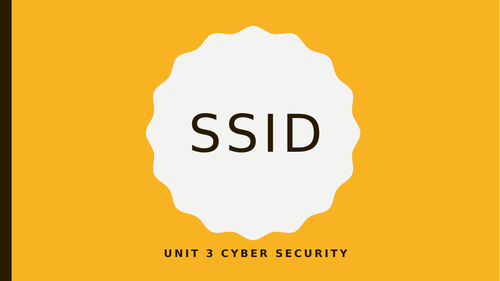 Unit 3 Cyber Security Level 3 OCR Cambridge Technicals