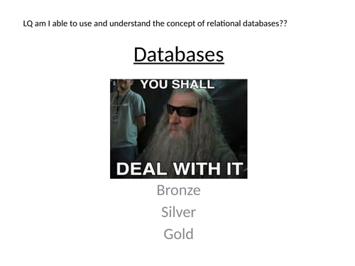 Edexcel Computer Science Paper 2 Relational Databases by