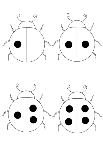 Minibeasts: Ladybirds Counting Spots 1-20