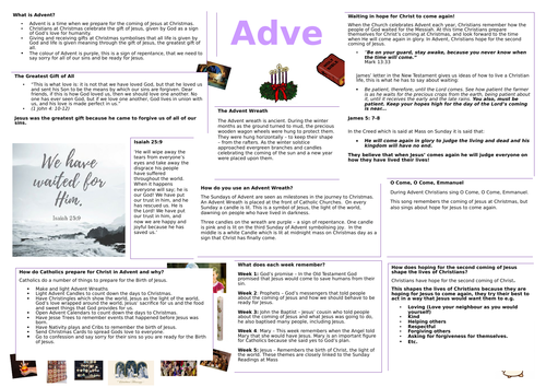 Advent Learning Mat