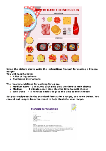 Instructional Text: How To Make A Cheese Burger