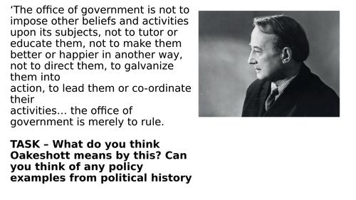 Worksheet - A level Politics - Conservatism and Michael Oakeshott A level