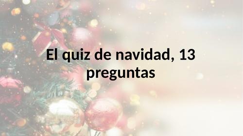 Christmas Quiz -Spanish