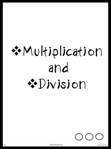 Multiplication and Divisions - Grade 2 Upwards