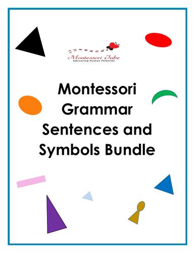 Montessori Sentences Symbolizing Bundle