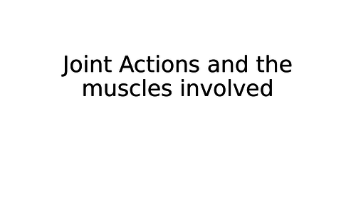 OCR A Level PE Intro to movement analysis including Wrist and ankle