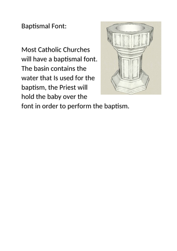 Symbols of Infant Baptism in the Catholic Church