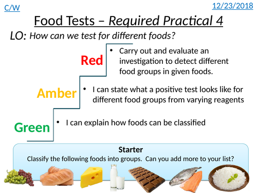 Food Tests (AQA 9-1 Required Practical 4)