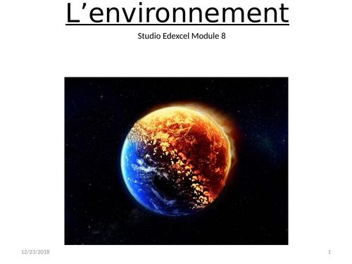 L'environnement Studio GCSE