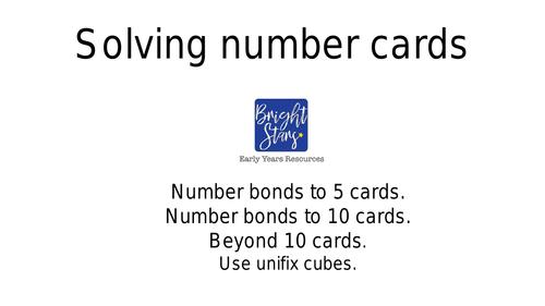Solving Addition Number cards