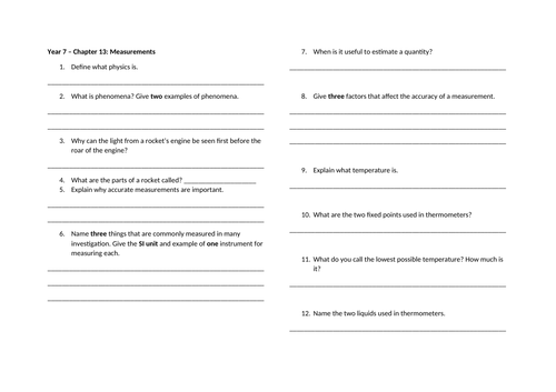 Checkpoint Science-Physics worksheets with mark scheme by