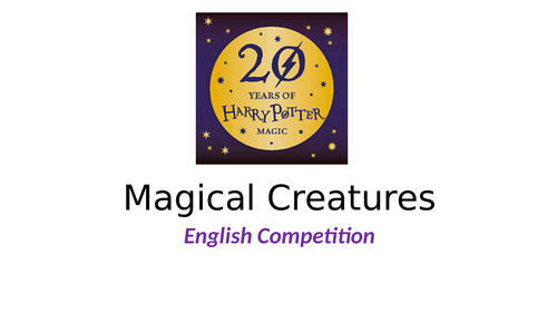 Harry Potter Competition - English