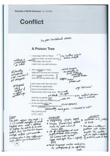 Poison-Tree, Envy, Boat-Stealing--Sennacherib OCR GCSE poetry teacher annotated poems