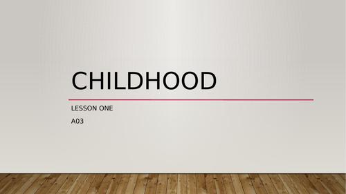KS3-Childhood-week-one-lesson-one