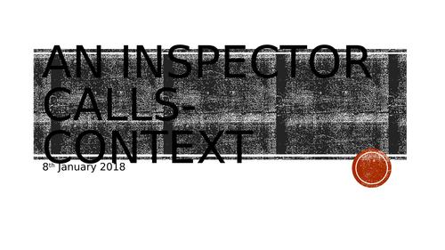 An Inspector Calls-Context