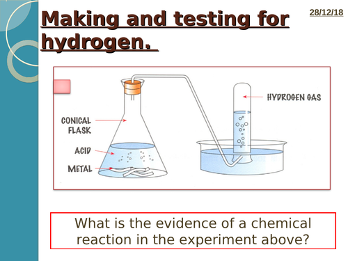 New trilogy AQA GCSE chemical analysis lesson 3 making gases