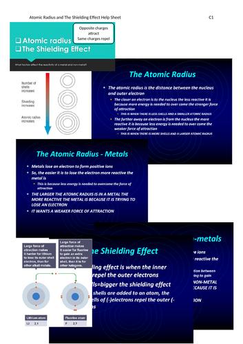 AQA GCSE Chemistry (9-1) C1 Triple Science Revision Summary Sheets