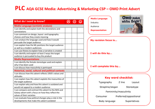 AQA GCSE Media OMO CSP PLC
