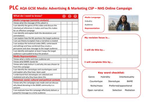 AQA GCSE Media NHS CSP PLC