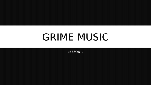 Grime (London Rap) Music Lesson Bundle