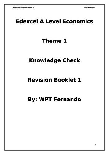 Edexcel Economics Theme 1 Revision booklet 1