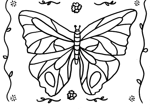 Butterfly Colouring Sheet