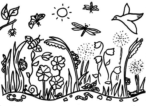 Meadow Colouring Sheet
