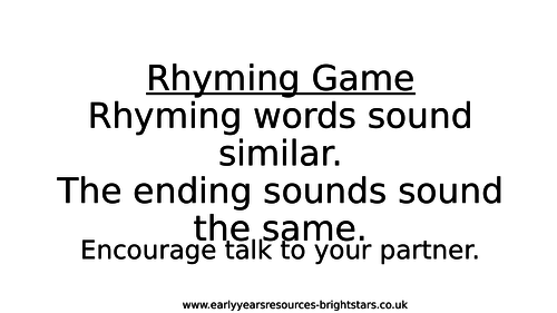 Interactive Rhyming Game for IWB