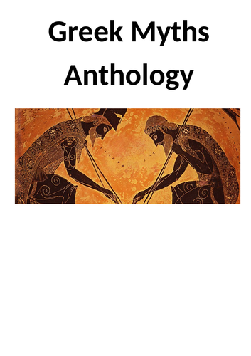 Introducing Greek Myths to Year 6/7 - Fun Intro, 3 weeks worth of resources