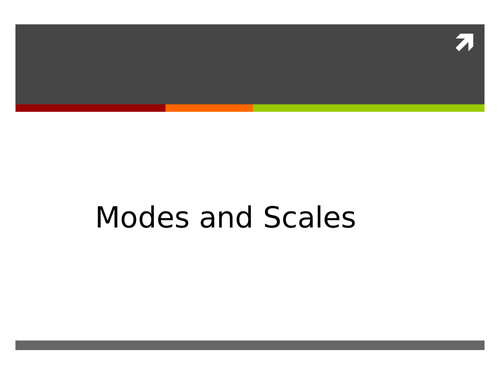 Modes and Scales Scheme of Work