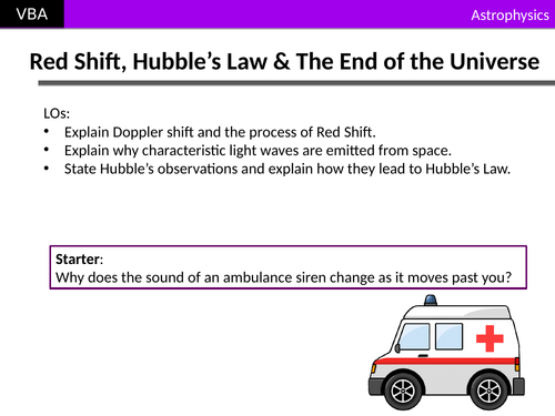A2 Physics - Red Shift, Hubble's Law, & the End of the Universe