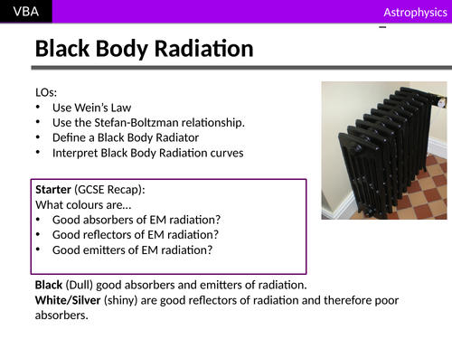 A2 Physics - Black Body Radiation