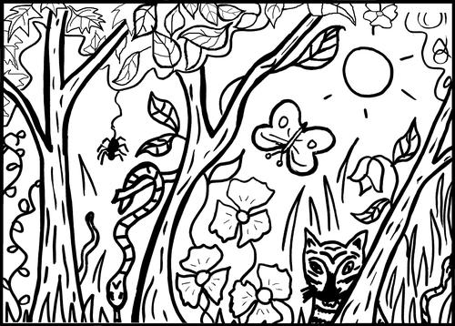 Jungle Colouring Sheet