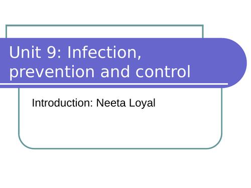 BTEC L3 HSC Unit 9 Infection Prevention